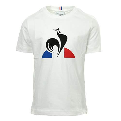 le coq Sportif Jungen ESS Tee Ss N°2 Enfant T-Shirt, Blanc (New Optical White), 6A