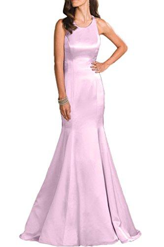 La_Marie Braut Elegant Satin Trumpet Abendkleider Ballkleider Brautjungfernkleider Bodenlang Neuheit Hell Rosa