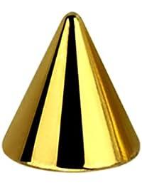 Stahl Schraubspitze Cones 5mm x 1,2mm Gold