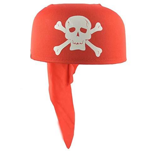 Lankater 1pc Piraten Bandana Kapitän Kopftuch Partei Cosplay Spielzeug Für Halloween Kleid Magie Piratenhut (Rot)