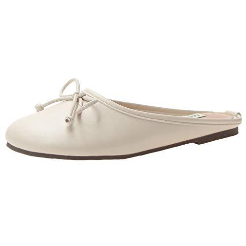 Mitlfuny Damen Sommer Sandalen Bohemian Flach Sandaletten Sommer Strand Schuhe,Frauen Hausschuhe außerhalb tragen Plattform rutschig faul lässig Sandalen Schuhe - Qupid Für Sandalen Frauen-plattform