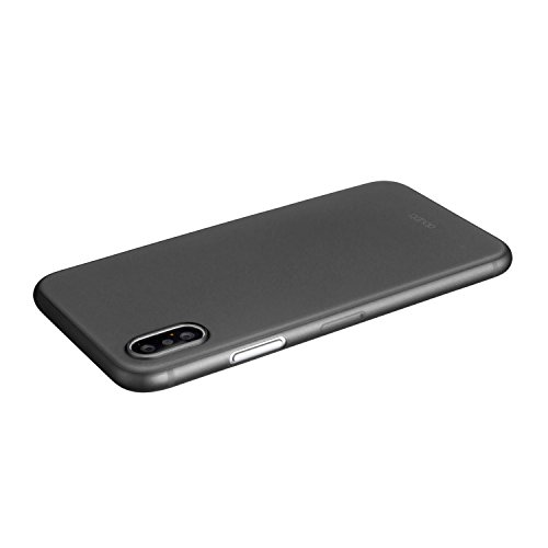 iPhone X Hülle, doupi UltraSlim Case [ Kabelloses Laden Unterstützt ] Ultra Dünn Clear Farbe TPU Glatte Rutschfeste Oberfläche Handyhülle Cover Bumper Schlanke Schutz Schale Softcase für iPhone 10 ( 2 Schwarz