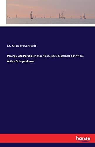 mena: Kleine philosophische Schriften, Arthur Schopenhauer ()