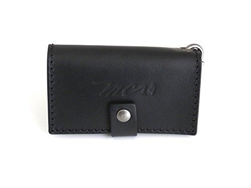 mcs-marlboro-classics-case-keychain-en-cuir-avec-chaine-noire
