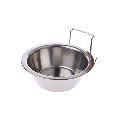 Brilcon Futterschüssel für Käfig, Edelstahl, für Vögel, Katzen, Hunde, Welpen, zum Aufhängen S -