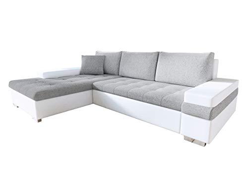 Mirjan24 Design Ecksofa Bangkok Mini, Moderne Eckcouch mit Schlaffunktion und Bettkasten, Ecksofa für Wohnzimmer, Gästezimmer, Couch L-Form, Wohnlandschaft, (Soft 017 + Bristol 2460)
