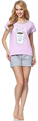 Italian Fashion IF Pijama para mujer Coffee 0227