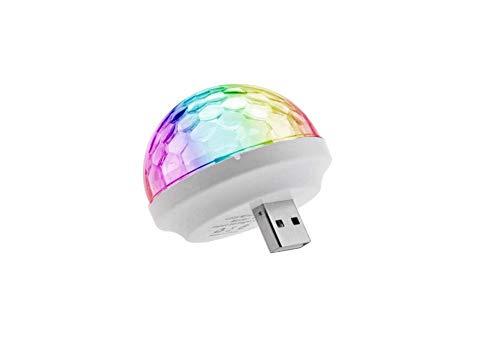 USB-Projektor-Lampen, LED, Bühnenlicht-Effekt, buntes Neonlicht, Farbwechsel mit Musik, Rhythmus, Bühnenlicht, Pilzlicht für Android und iPhone, von feifuns For Android