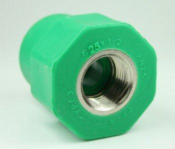PPR Aqua-Plus Kupplung mit Innengewinde 25mm x 1/2 Zoll