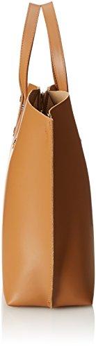 CTM Borsa a Mano da Donna Elegante, 47x30x14cm, Vera pelle 100% Made in Italy Cuoio