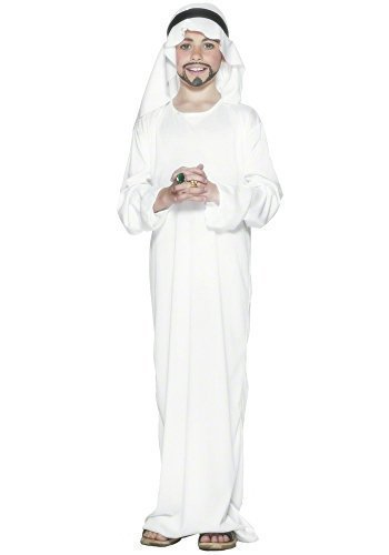 Per bambino, colore: bianco, motivo Arabian Nights mediorientali Ali Baba, Sheikh pastore Henbrandt Fancy Dress Costume