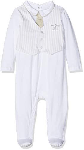 Chicco tutina con apertura interno gamba tutina, bimbo 0-24, bianco (bianco 033), neonato (taglia produttore:044)