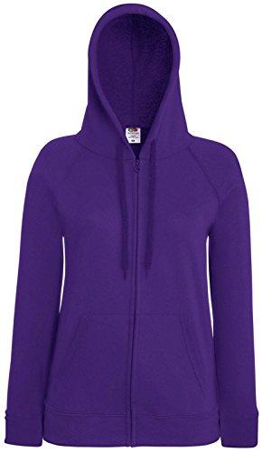 Fruit of the loom léger pour femme-coupe avec capuche et loisirs habillement sweat-shirt Violet