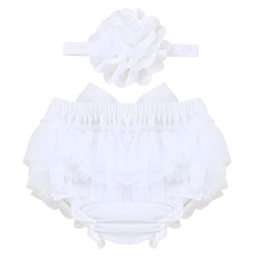 45cd6d2ecaca8 YiZYiF Bébé Garçon Fille Nouveau-né Vêtement de Baptême Bloomer Tutu Short  Culotte avec Bandeau