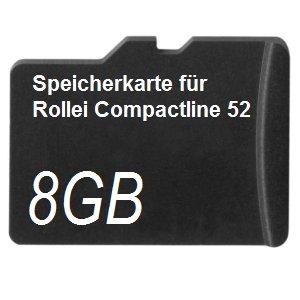 8GB Speicherkarte für Rollei Compactline 52