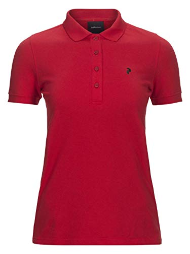 Peak Performance W Classic Golf Polo Chinese Red - L -