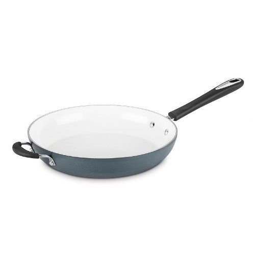 "Cuisinart 5922-30HSB Open Skillet with Helper Handle, 12"", Slate Blue"