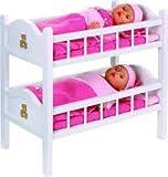 47cm Bayer Etagenbett Set mit Twins Dolls - Puppen und Zubehör - Mädchen Spielzeug