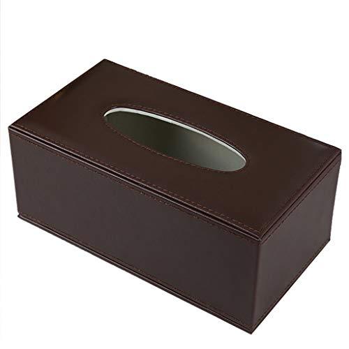 Leder-handtuchhalter (Nuipo PU Leder Tissue Box Halter Badezimmer Toilettenpapier Handtuchhalter Toilettenpapier Box Roll Tray Wasserdicht Tray Shelf Wandhalterung Braun (Size : L))