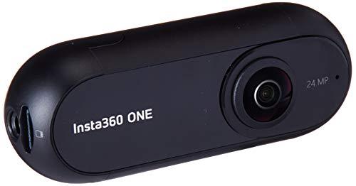 Insta360 ONE. Cámara 360 grados deportiva con resolución 4K. Estabilizador de imagen integrado (fotos de 24Mp, conexión Bluetooth 4.0, MicroSD, Lightning), color negro