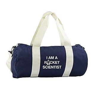 Hippowarehouse i am a rocket scientist Gymwear Gym Duffle Cylinder Uniform Kit Bag 50 x 25 x 25cm 20 litres