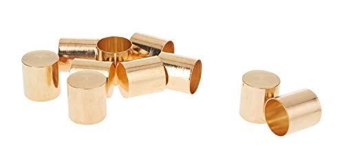 VBS Endkappen, rund, Innen-Ø 11,5mm, goldfarben, 10 Stück