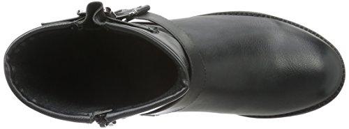 Pieces Psdiego Boot Black, Bottes Motardes Femme Noir (Black)