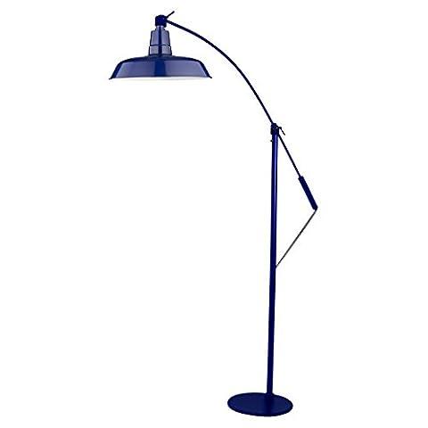 Cocoweb 31 cm Oldage LED Industrial Floor Lamp - Cobalt Blue