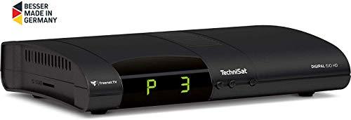 TechniSat Digipal ISIO HD DVB-T2 Receiver (PVR Aufnahmefunktion, HDTV, kartenloses Irdeto-Zugangssystem für freenet TV, App-Steuerung, Smart TV, 12 Volt) schwarz