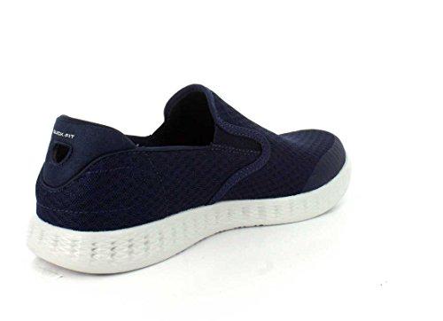 Skechers On the Go Glide 53780 Navy NVGY Sneaker Goga Max Marine/Grau