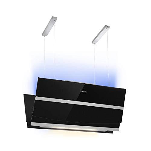 Klarstein Prism Dunstabzugshaube • Inselabzugshaube • 720m³/h • Energieeffizienzklasse A • Booster-Funktion • Touch-Steuerung • LCD-Display • Timer • RGB-Farben • umrüstbar auf Umluftbetrieb • schwarz