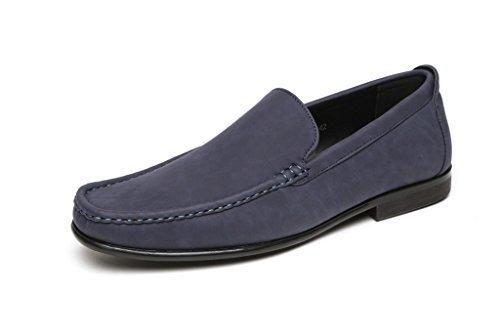 Hommes Décontracté Mocassins À Enfiler Chaussures Semelle Antidérapante Bleu