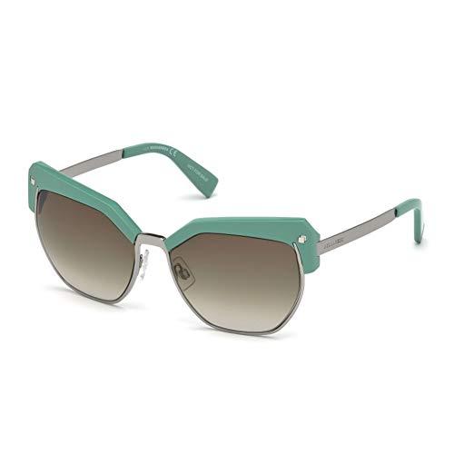 Dsquared2 Unisex-Erwachsene DQ0253 93P 56 Sonnenbrille, Grün Chiaro Luc/Verde Grad