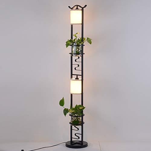 Stehlampe, vertikale Lampe Schmiedeeisen Display Rack Schlafzimmer Nacht Ecke Wohnzimmer einfache moderne LED-Leuchten 0611LDD - Stoff-display-racks