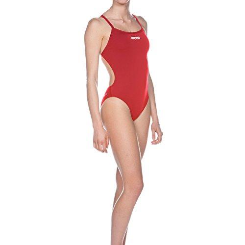 Arena Damen Badeanzug Solid Lighttech high Red/White