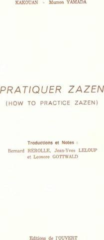 Pratiquer Zazen