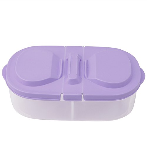 Runrain Frische Obst Snacks Lagerung Küche Kunststoff Container Sauce Lebensmittel Box Schäler (Lila)