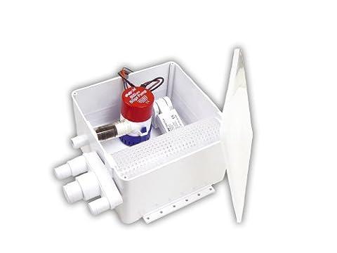 Rule 98A Marine Shower Drain Kit, 800 GPH , 12-Volt,