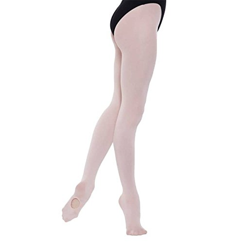 GIRLS CONVERTIBLE BALLET TIGHTS PINK AGE 11-13 YEARS BY SILKY DANCE