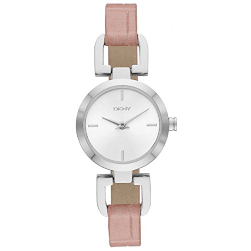 DKNY NY2246 - Orologio da polso da donna, cinturino in pelle colore rosa