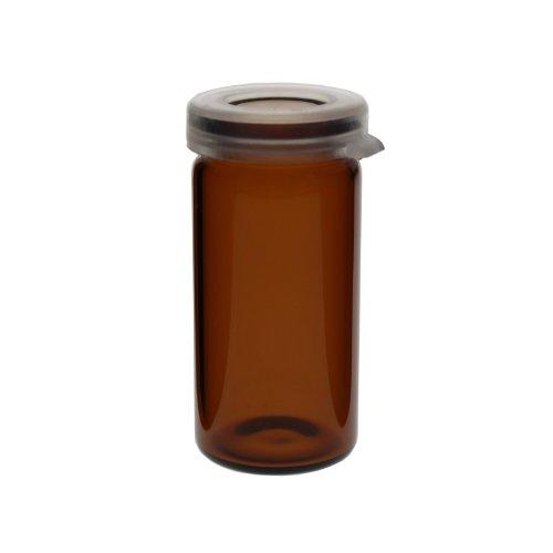 Schuessler Schüssler Salze (5 x Tablettengläser 5 ml - Farbe: Braun - mit Schnappdeckel / Tablettenglas / Rollrand / Rollrandglas / Schnappdeckelglas / für allgemeine Aufbewahrungszwecke, Proben, Pulver, Schüssler-Salzen, Tabletten, Globuli oder ähnliche Stoffe)