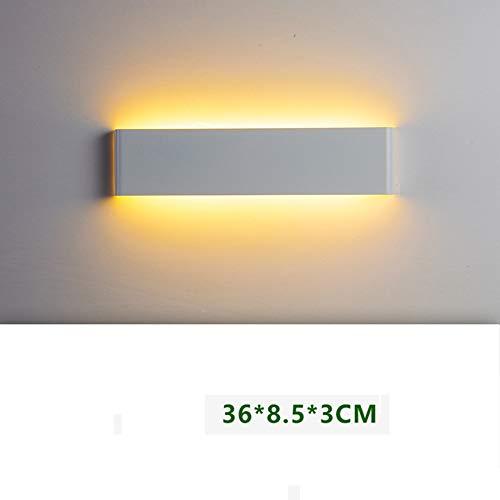 Wandleuchte led Wohnzimmer outdoor Wandleuchte gang Treppe Schlafzimmer Wand Lampe, Dunkelgrau, weißes Oberteil 36 cm warmes Licht