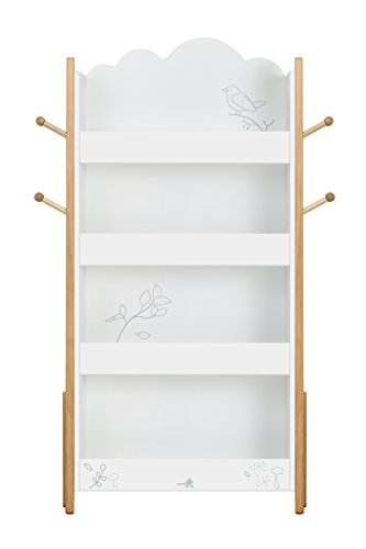 Labebe Child Bookcase Wooden White Bookshelf With Little Bird For Kids 1 5 Years Toddler Open High Furniture Large