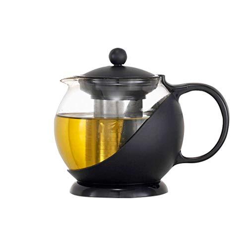 Théières AUGAUST Haut Filtre d'acier Inoxydable de en Verre de Borosilicate approprié à n'importe Quel thé 1250ml (Couleur : A, Taille : 1250ml)
