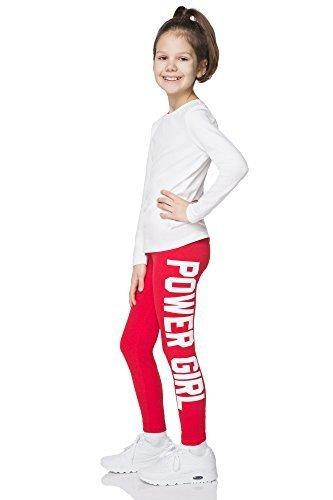 Power-stretch-top (Hi! Mom Power Girl Aufdruck Leggings volle Länge Baumwolle Jeggings für Kinder Alter 1-13 chpwg - Rot, 12-13 Jahre)