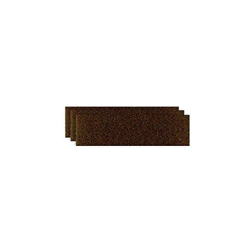 GLOREX Bastelfilz (40 x 30 cm) dunkelbraun, 4 mm dick, 3 Filzplatten