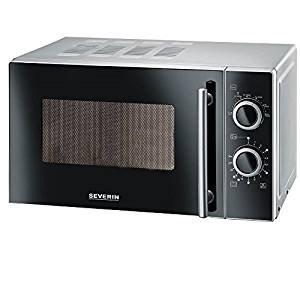 Severin MW 7862 forno a microonde Piano di lavoro Solo microonde 20 L 700 W Nero, Argento (Ricondizionato Certificato)
