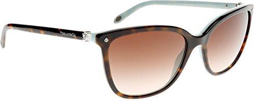 Tiffany & Co. Unisex TF4105HB Sonnenbrille, Braun (Havana 81343B), One size (Herstellergröße: 55)