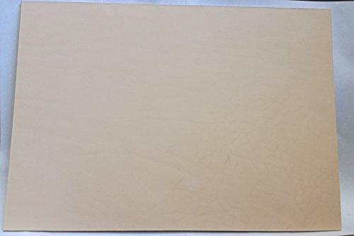 24x34 cm großer Lederzuschnitt, Blankleder, Dickleder, Punzierleder - kräftige, pflanzlich / vegetabil gegerbte Rindleder, Vollrindleder mit ca. 2 -2,5 mm Stärke und unverfälschtem Narbenbild, 2. Leder
