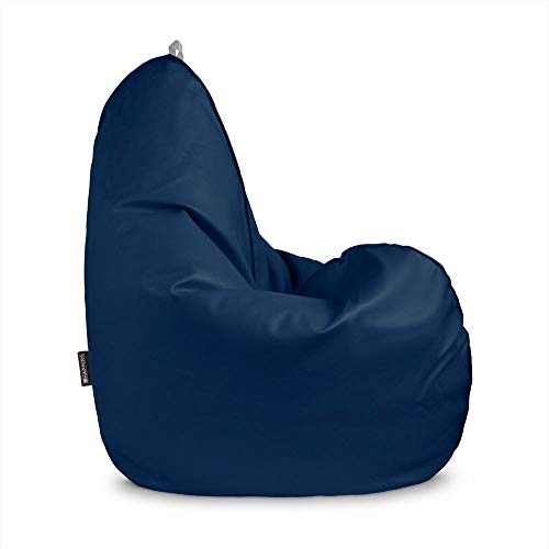 HAPPERS Puff pera Relax Polipiel Indoor Azul XL